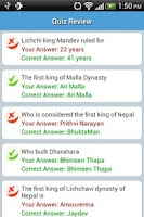 Screenshot of Nepali Quiz