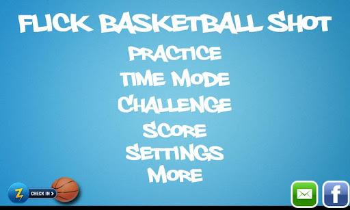 Flick Basketball Shot