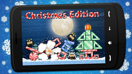 pandas-vs-ninjas-christmas for android screenshot