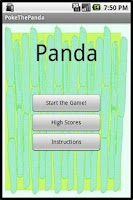 Screenshot of Poke the Panda