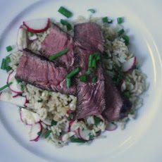 Seared Steak and Sesame Rice Salad