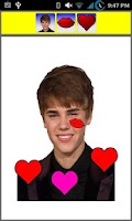 Screenshot of Kiss Justin Bieber Widget