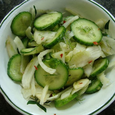 Cucumber and Fennel Salad with a Chinese Vinaigrette