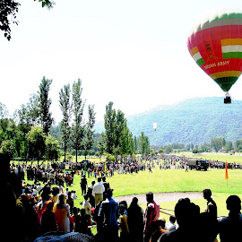 Hot Air Balloning at Rajouri, India by Maharajkar Isher - News & Events Entertainment ( hot air balloon, flight takeoff,  )