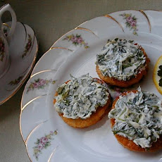 Canapes with Green Spread