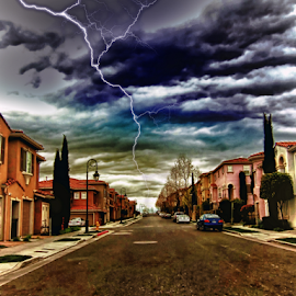 Redisturbia by Rachel Santellano - Digital Art Places ( hdri, hdr, san jose, california, street, neighborhood, bay area, city )
