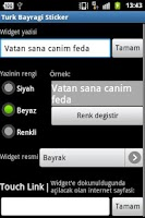 Screenshot of Turk Bayragi Sticker Widget
