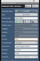 Screenshot of myStock TE Inventory Manager