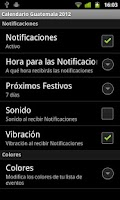 Screenshot of Calendario Feriados Guatemala