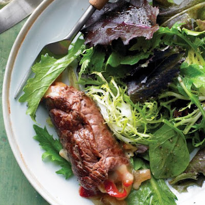 Beef Rolls with Spring Salad