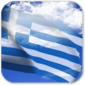 3D Greece Flag icon