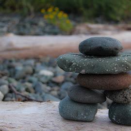 West Coast Inukshuk by Shannon MacLeod - Nature Up Close Rock & Stone ( pride, inukshuk, aboriginal, west coast, beach, british columbia )