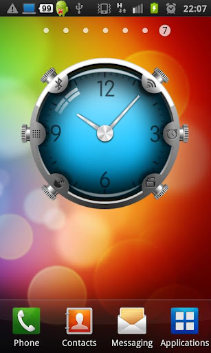 Colorful Glass Clock Widget
