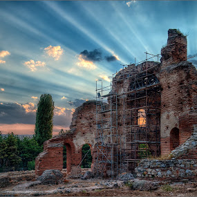 The Red Church by Anton Donev - Buildings & Architecture Public & Historical ( old, god, christianity, brick, holy, believe, religion, help, care, spirituality, ruins, repair, perushtitza, construction, bulgaria, restoration, byzantine, church, faith, orthodox, sacred, history, bell, bible, historical, HDR, Landscapes,  )