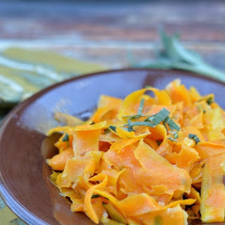 Butternut Squash and Leek Ribbons with Brown Butter Sage