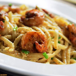 Linguine Alfredo with Cajun Shrimp