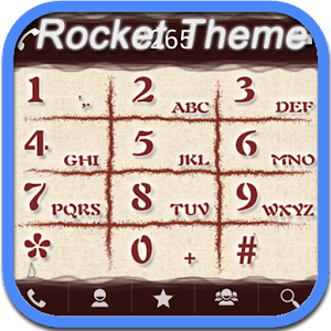 Cover art RocketDial Brown Theme