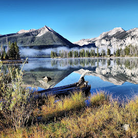 Petit Lake  by Dave Bower - Landscapes Waterscapes