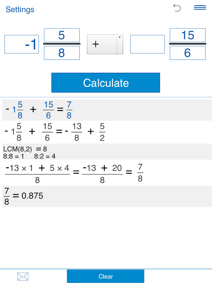 Fraction calculator Screenshot 7