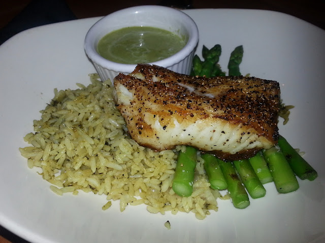 sea bass w/ cilantro rice. #yummy