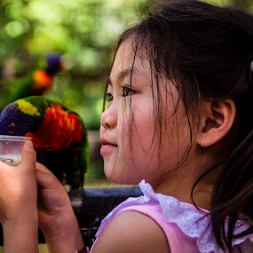 Bird feeding  by Samaneethi Krishnan - Babies & Children Children Candids ( street portrait, candid, people )