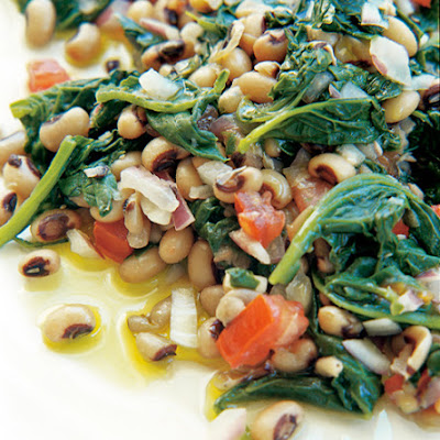 Black-Eyed Peas with Spinach