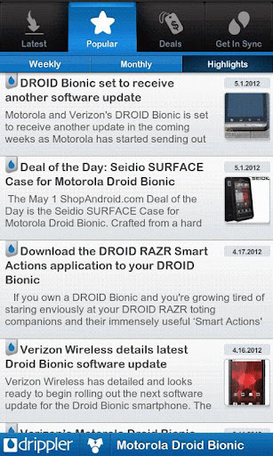 ultimate-droid-bionic-app for android screenshot