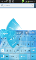 Screenshot of Waterfall GO Keyboard Theme