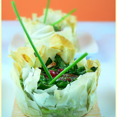 Spinach and Pecan Filo Mini-Tarts
