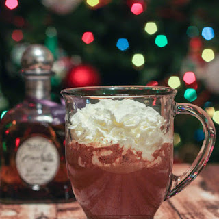 Hot Chocolate Laced with Tequila