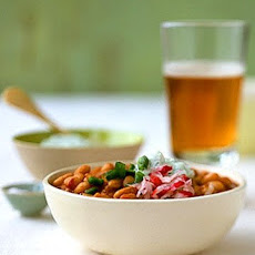 White Bean Chili with Herbed Yogurt Cheese