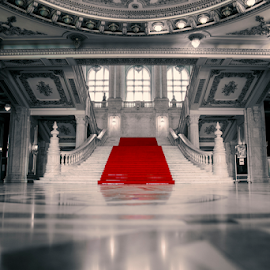 Red carpet by Diaconu Daniel - Buildings & Architecture Other Interior ( red, inside, carpet, architecture, selective color, pwc )