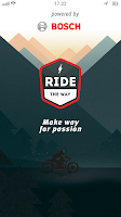 Screenshot of Ride the Way; motorbike routes