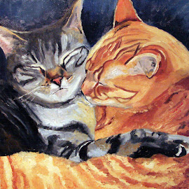 Loving Cats by Patty Bingham - Painting All Painting