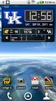 Screenshot of Kentucky Wildcats Live Clock