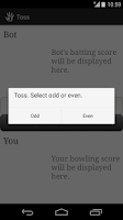 Screenshot of Hand Cricket