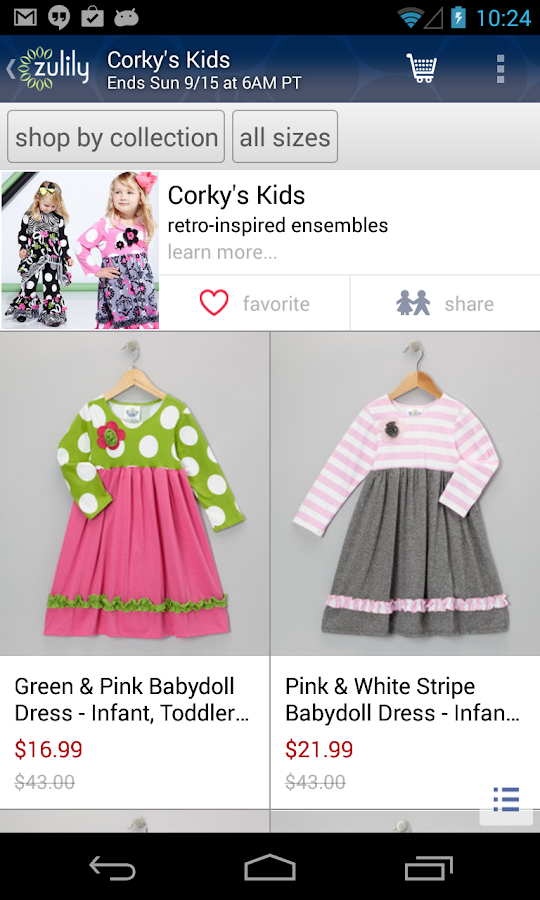 zulily Screenshot 2