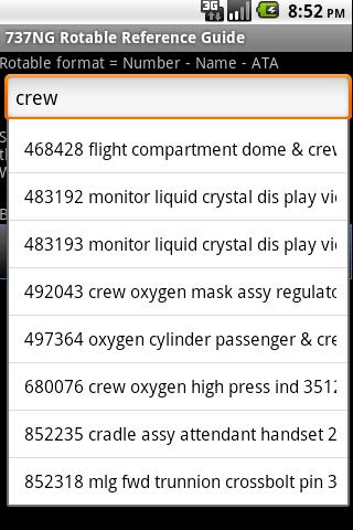 737NG Rotable Reference Guide