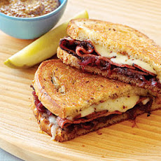 Grilled Pastrami, Swiss, and Sweet Onion Marmalade on Rye