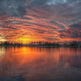 by Matty Gott - Landscapes Sunsets & Sunrises ( west australia, perth, swan river, sunrise,  )