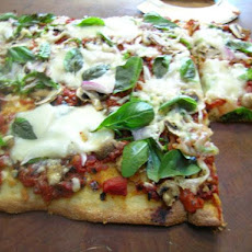 Pizza Bianca With Tomatoes and Mozzarella