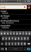 Screenshot of Spanish - German offline dict.