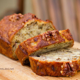 Bourbon Banana Walnut Bread