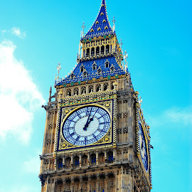 Big Ben by Saifun Naveh - Buildings & Architecture Public & Historical ( clouds, tower, old, england, ancient, sky, london, clock, queen, ben, big, elizabeth )
