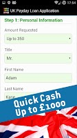 Screenshot of Payday Loans & Cash Advance