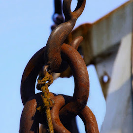 Rusting Away by Nina VanDeleur - Artistic Objects Industrial Objects ( rusted chains )