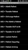 Screenshot of HL7 ADT List