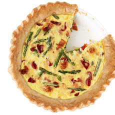Asparagus, Cherry Pepper and Bacon Quiche
