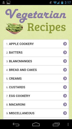 【免費生活App】Vegetarian Recipes-APP點子