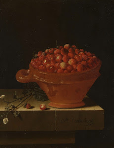RIJKS: Adriaen Coorte: A Bowl of Strawberries on a Stone Plinth 1696
